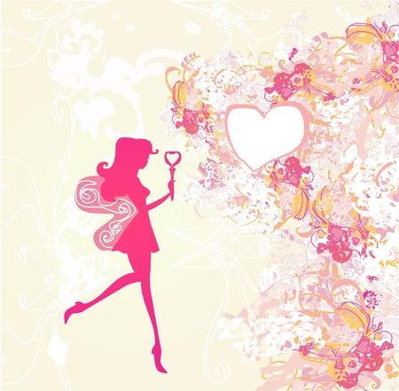 floral background with a beautiful fairy Stock Vector - 11978708