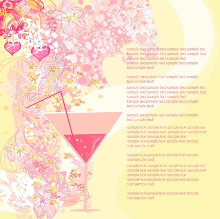 Invitation To Birthday Cocktail Party         Vector