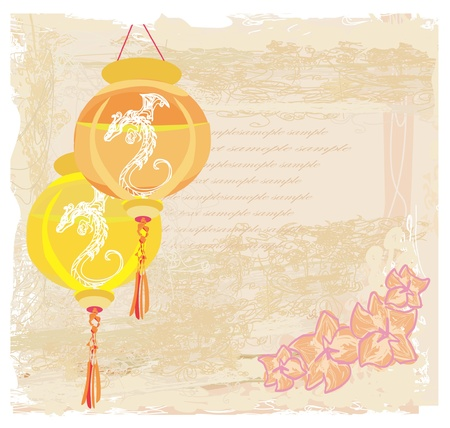 Chinese New Year card, vector Stock Vector - 12009142