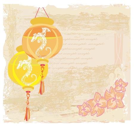 chinese new year card: Chinese New Year card, vector