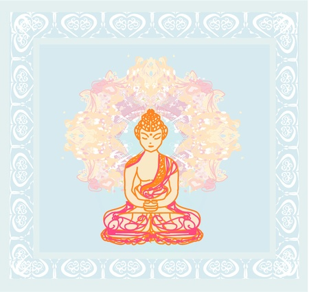Chinese Traditional Artistic Buddhism Pattern Stock Vector - 12024428