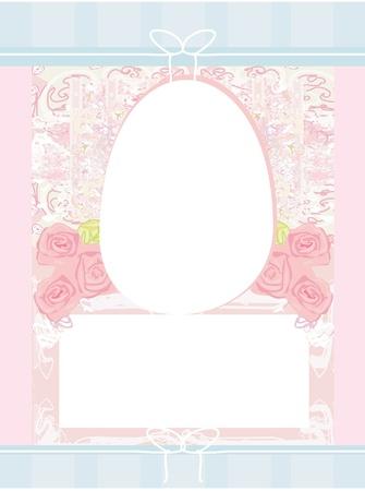 Easter Egg On Grunge Background  Stock Vector - 12024423