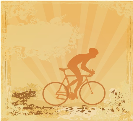 Cycling Grunge Poster Template vector Stock Vector - 12162231