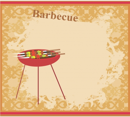 bbq: Barbecue Party Invitation Illustration
