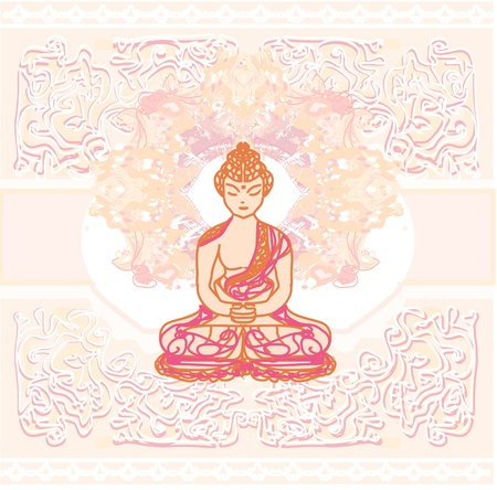 Vector of Chinese Traditional Artistic Buddhism Pattern Vector
