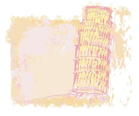 pisa tower grunge background Stock Vector - 12162284