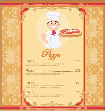 paper delivery person: Pizza Menu Template