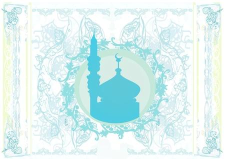 Ramadan background - mosque silhouette. Stock Vector - 12162274