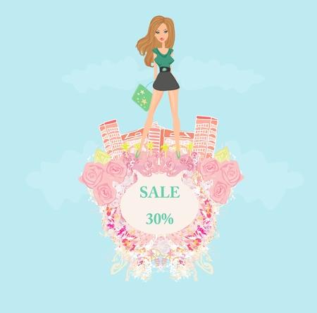 shoptalk: fashion girl Shopping - shopping sale frame