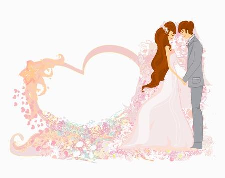 wedding dancing couple background  Stock Vector - 12162313