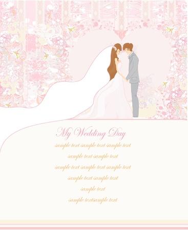 hand holding flower: elegant wedding invitation