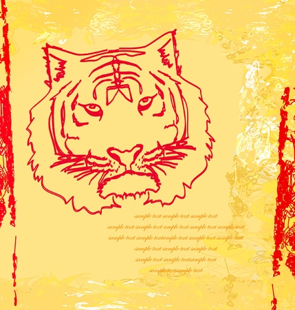 abstracted: Abstracted doodles Tiger  Illustration