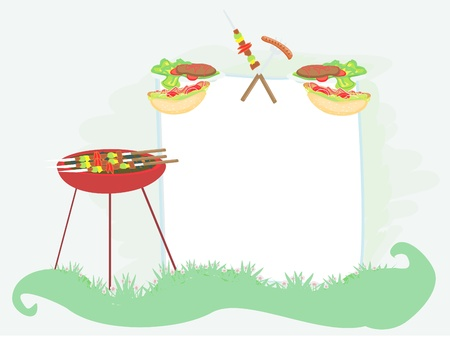 grilled vegetables: Barbecue Party Invitation