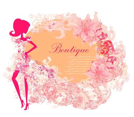 soir�e: R�sum� Beautiful Woman floral