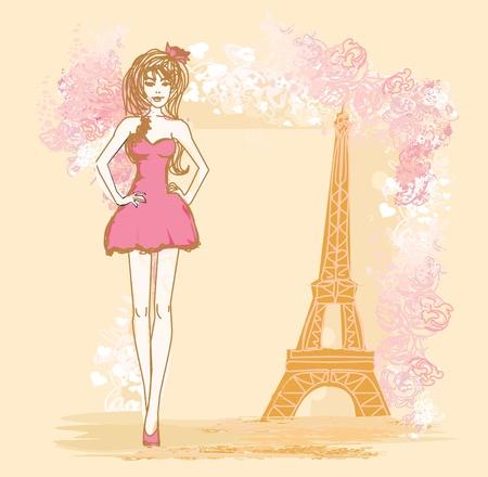 shoptalk: beautiful women Shopping in Paris - card