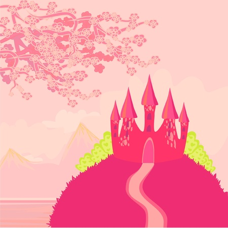 Magic Fairy Tale Princess Castle  Stock Vector - 12162409