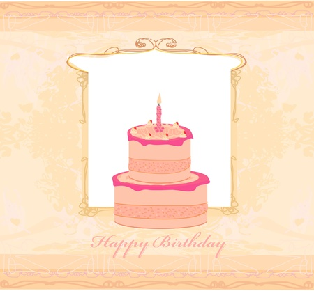 Happy Birthday Card  Stock Vector - 12162437
