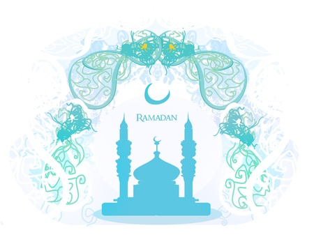 feter: Ramadan background - mosque silhouette card