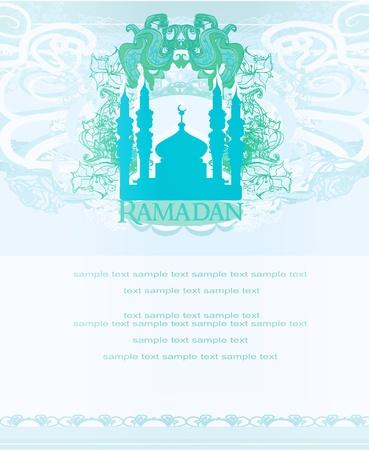relegion: Ramadan background - mosque silhouette card