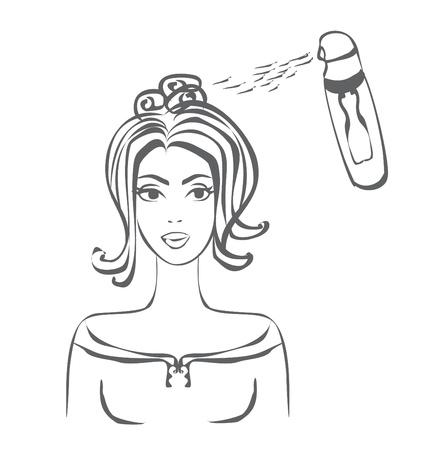 hairspray: sal�n de peluquer�a Vectores