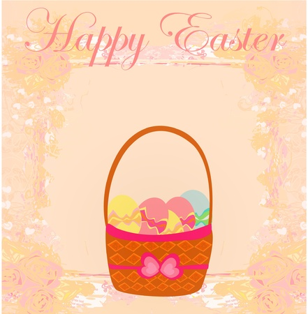 happy easter border.  Vector