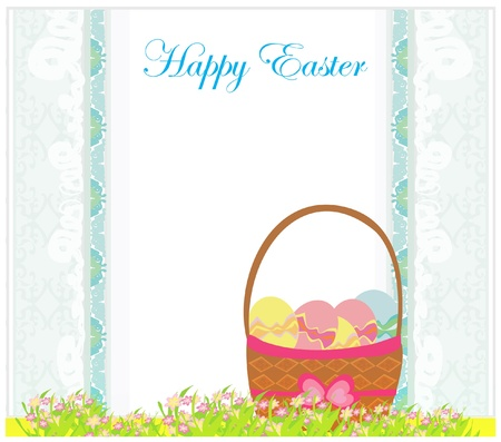happy easter border. Stock Vector - 12459887