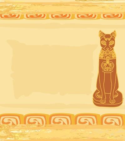 ancient civilization: Stylized Egyptian cat