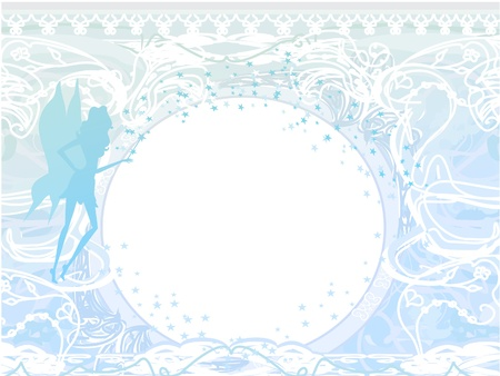 background with a beautiful fairy  Vector