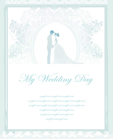 hand holding flower: elegant wedding invitation