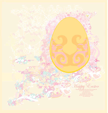 Easter Egg On Grunge Background  Stock Vector - 12460089