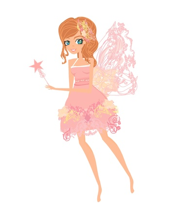 butterfly  angel: beautiful fairy vector graphic  Illustration