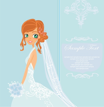 Beautiful bride card  Illustration