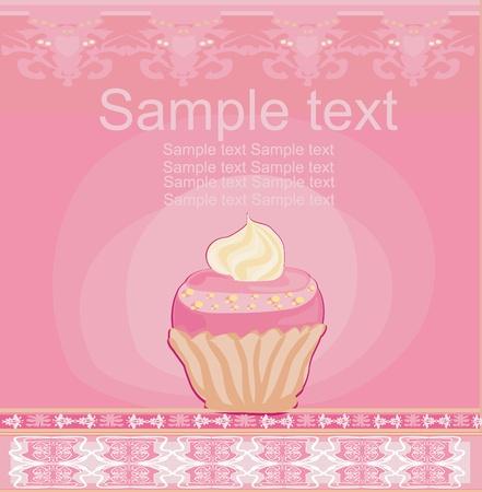 cupcake card  Vector