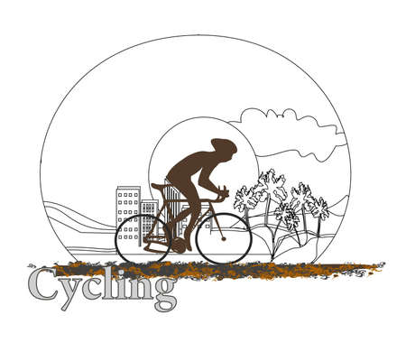 Cycling doodle Poster Stock Vector - 12460103