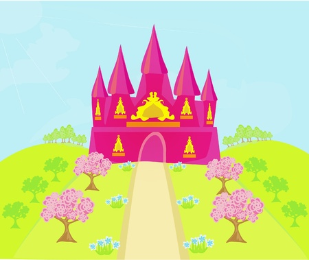 Magic Fairy Tale Princess Castle Stock Vector - 12460079