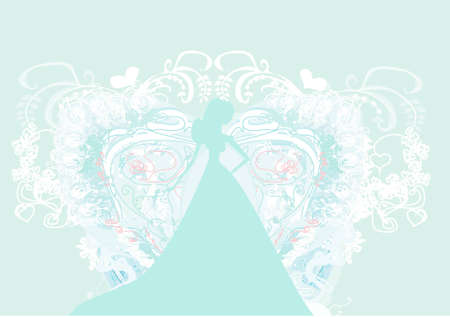Abstract Beautiful floral bride  Stock Vector - 12460147