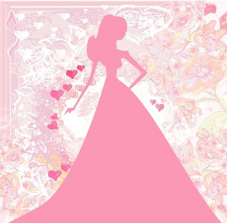 Resumen floral hermosa novia