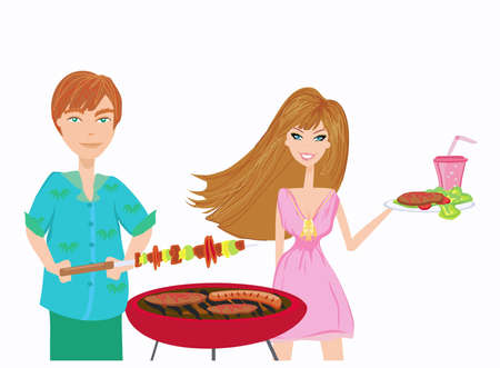 charcoal grill: Barbecue Party