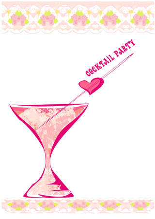 Invitation To Birthday Cocktail Party Stock Vector - 12460122