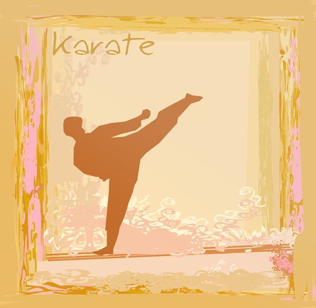 karate Grunge poster Stock Vector - 12460110