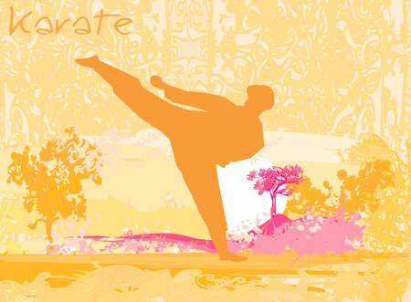 karate Grunge poster Stock Vector - 12460115