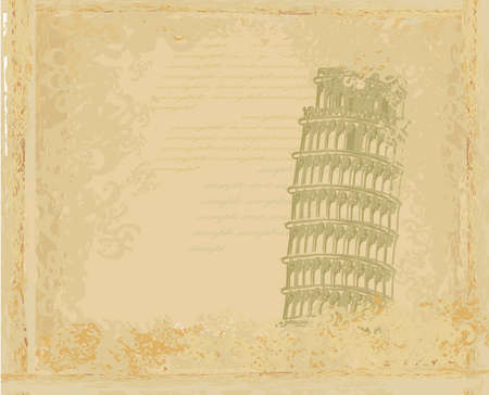 pisa tower grunge background    Stock Vector - 12460194