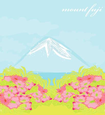 Fuji and morning sunrays  Vector