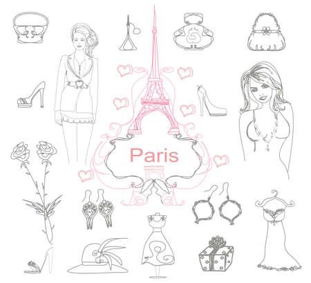 Paris doodles          Illustration