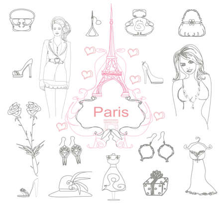 Paris doodles Stock Vector - 12460164