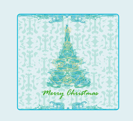 adorn: Abstract christmas tree card  Illustration