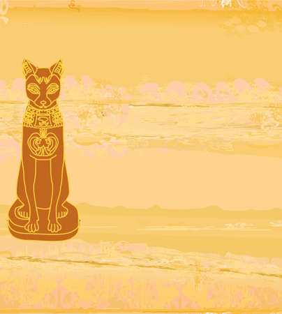 Stylized Egyptian cat Stock Vector - 12460241