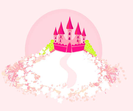 Magic Fairy Tale Princess Castle  Stock Vector - 12460213