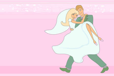 wedding couple  background Stock Vector - 12460198