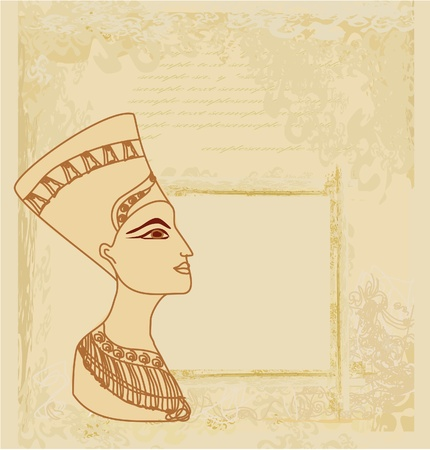 old paper with Egyptian queen  Stock Vector - 12498194
